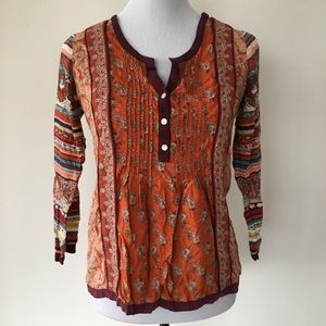 Lucky Brand Boho Style Top Size Small